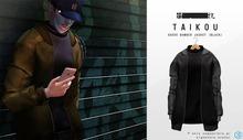taikou / suede bomber jacket (BLACK)