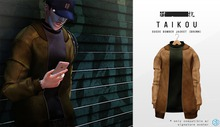 taikou / suede bomber jacket (BROWN)