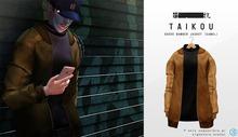 taikou / suede bomber jacket (CAMEL)