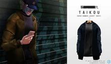 taikou / suede bomber jacket (NAVY)