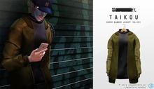 taikou / suede bomber jacket (OLIVE)