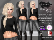 Tameless Semi-Sweet Outfit - Black - belleza, slink physique, hourglass, tmp, maitreya, tonic