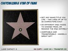 Customizable Star of Fame