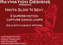 Nikita 'Slow 'N Sexy' Motion Capture Dance Set - no copy (Boxed)
