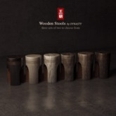 DYNASTY - Wooden Stool - Pack 1