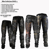 AmAzINg CrEaTiOnS Biker Gothic Jean (MAR) 11 Promo price!