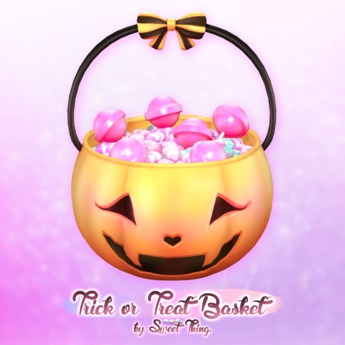 Sweet Thing. Trick or Treat Basket (Hold and Decor Verions)