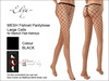 ~Elya~ Fishnet Pantyhose Large Cells Black Med Feet