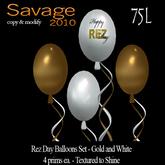 Happy Rez Day Balloon Set - Gold and White