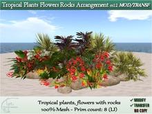m12-Tropical Flowers Rocks Arrangement [TRF BOX]