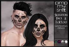 PMS - Skeleton Face #2 Tattoo