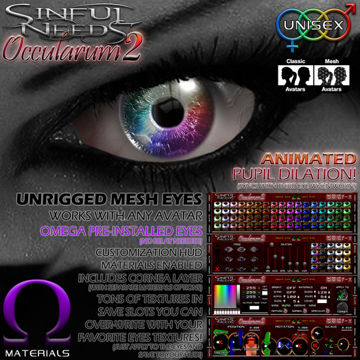Sinful Needs - Occularum2 Animated Mesh Eyes