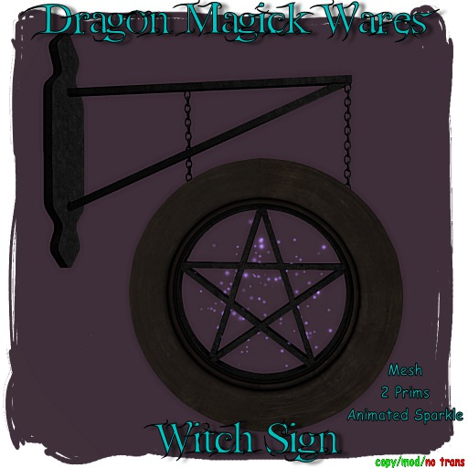 Dragon Magick Wares Witch Sign Animated mesh