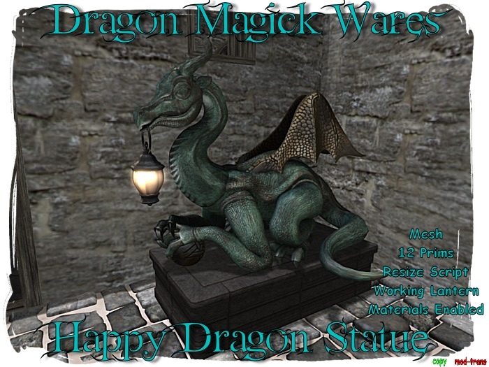 Dragon Magick Wares Happy Dragon Statue Resize Mesh