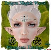 Dragon Magick Wares Pentagram Earrings Black mesh