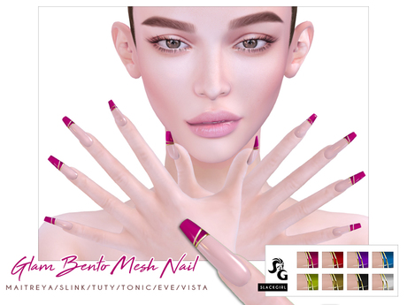 ::SG:: Glam Nails. TUTY-TONIC-EVE--VISTA-MAITREYA-SLINK BENTO