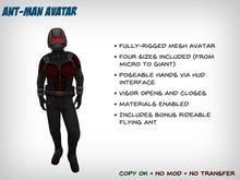Ant-Man Avatar - 4 Sizes + Bonus Flying Ant