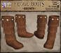 *LightStar - Fringe Boots-Brown