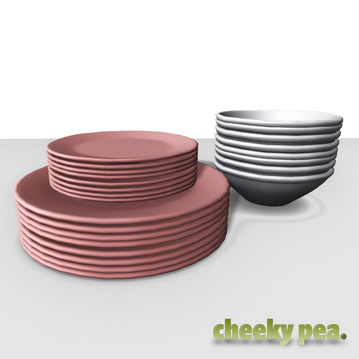 :CP: Modern Farmhouse Foodie Neatly Stacked Dishes