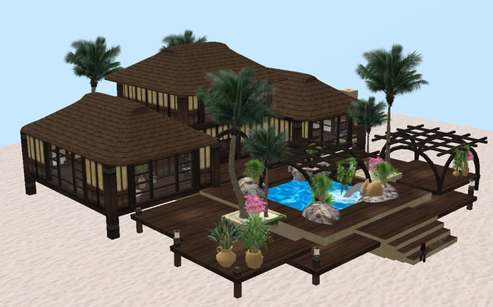 LR House 28 v1 (Home - Prefab - Residential - Tikki - Pool)