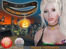 Nina Nerys - Free gift pumpkin choker - Happy Halloween 2016