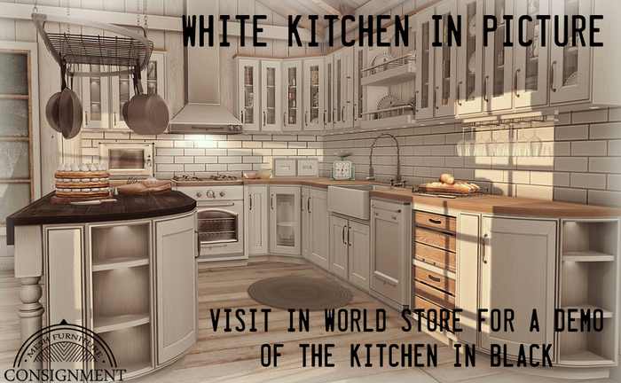 Second Life Marketplace Con Catia Kitchen Black Modular Kitchen