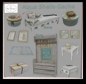 Bee Designs Aqua Shells Gacha wall frames