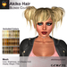 A&A Akiko Hair Blonde Colors Pack. Womens mesh pigtails hairstyle
