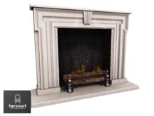2 LI - White Wood Georgian Fireplace - 18th century Fireplace - 100% Original Mesh