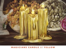 [The Emporium] Magicians Candle // Yellow