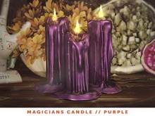 [The Emporium] Magicians Candle // Purple