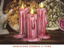 [The Emporium] Magicians Candle // Pink