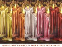 [The Emporium] Magicians Candle // Warm Spectrum Pk