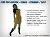Fitmesh Star Trek Dress (Kelvinverse) - Gold / Command