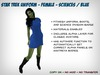 Fitmesh Star Trek Dress (Kelvinverse) - Blue / Sciences