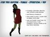 Fitmesh Star Trek Dress (Kelvinverse) - Red / Operations