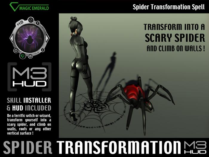 Spider Transformation Spell HUD [M3-HUD+Installer]
