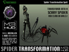 Spider Transformation Spell HUD (boxed)