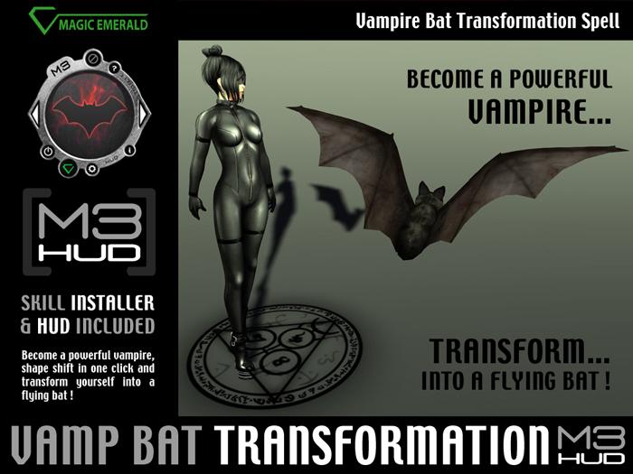 Vampire Bat Transformation Spell [M3-HUD+Installer]