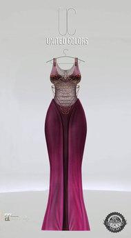 UC Ivyana gown plum Maitreya