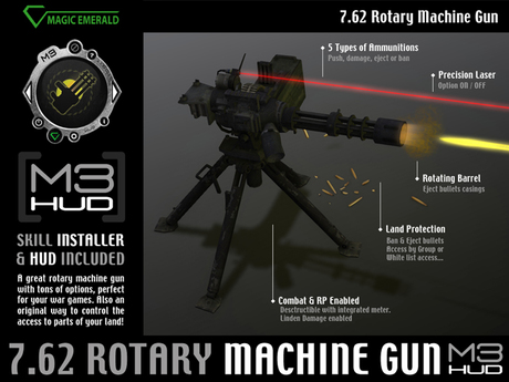 Rotary Machine Gun Cal.7.62 [M3-HUD+Installer]