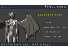 @Safybelle  [FULLPERM]  Bento BAT  WINGS  v1.1 STANDARD