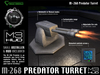 M-268 Predator - Automatic Turret [M3-HUD+Installer]