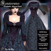 C&F Elizabeth Renaissance w Mesh body sizes - Mauve Floral