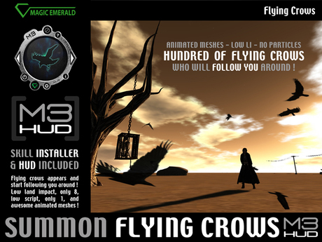 Flying Crows following you [M3-HUD+Installer]