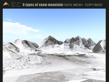 [Dolphin Design] 6 High quality  snow mountain(with textures)