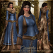 {AS} Caoimhe Rigged Mesh Gown & Fur Cape: Blue; Viking, Torvaldsland, Northern, Norse, Winter, Medieval, Omega