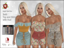 Apple Heart Inc. Beth Top and Skirt with Hud