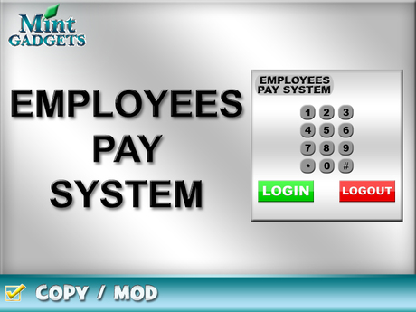 Mint Gadgets - Employees Pay System