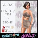 Robot Dolly - Alba - strappy leather mini - Stone MP